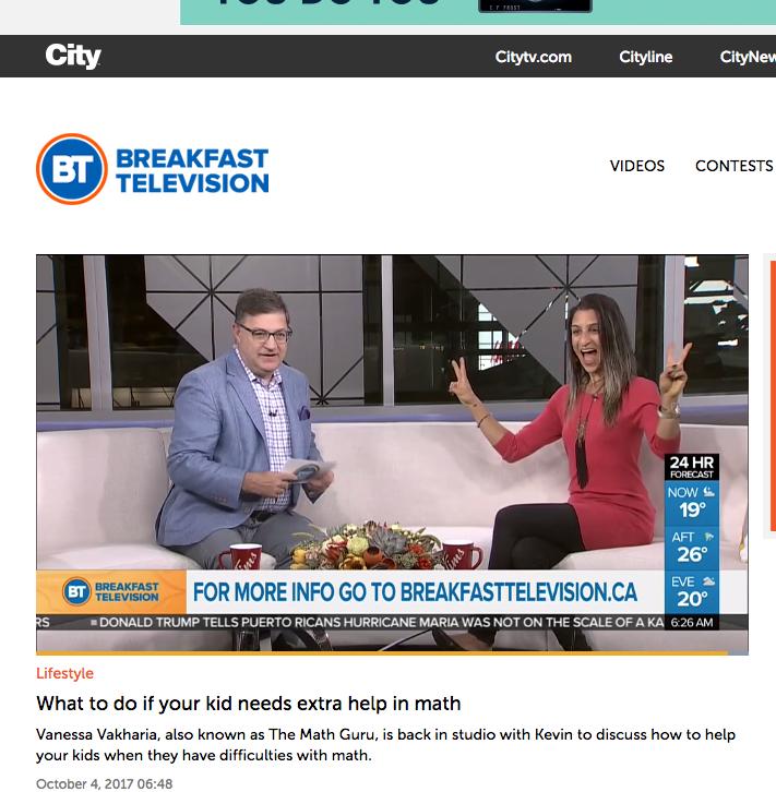 Breakfast Television October 2017