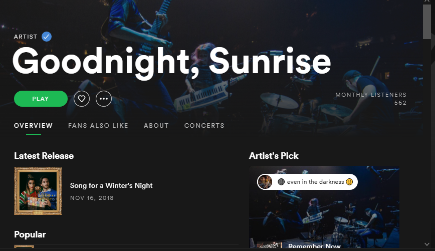 You could MAKE this page for  this incredible band !