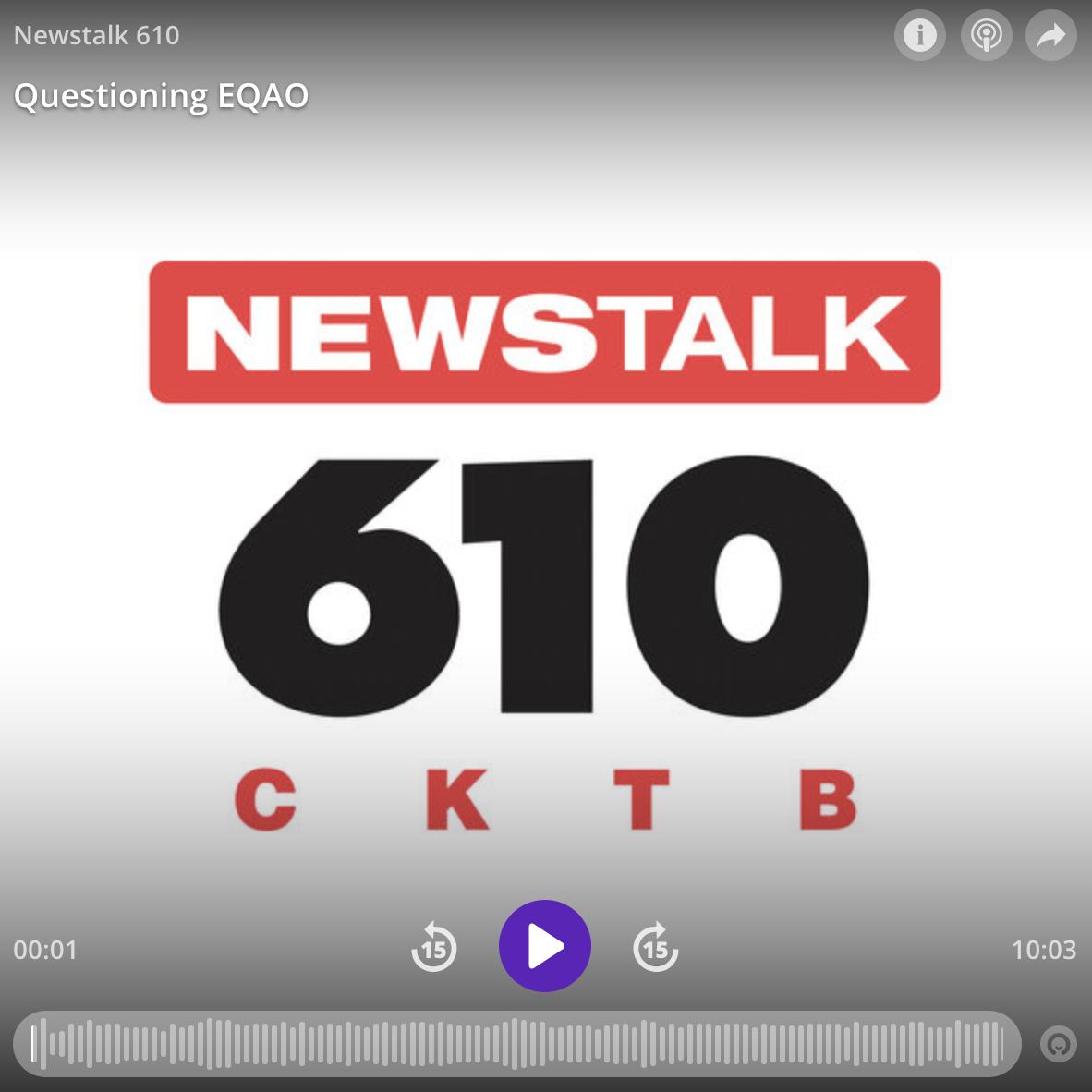 Newstalk 610 August 2019