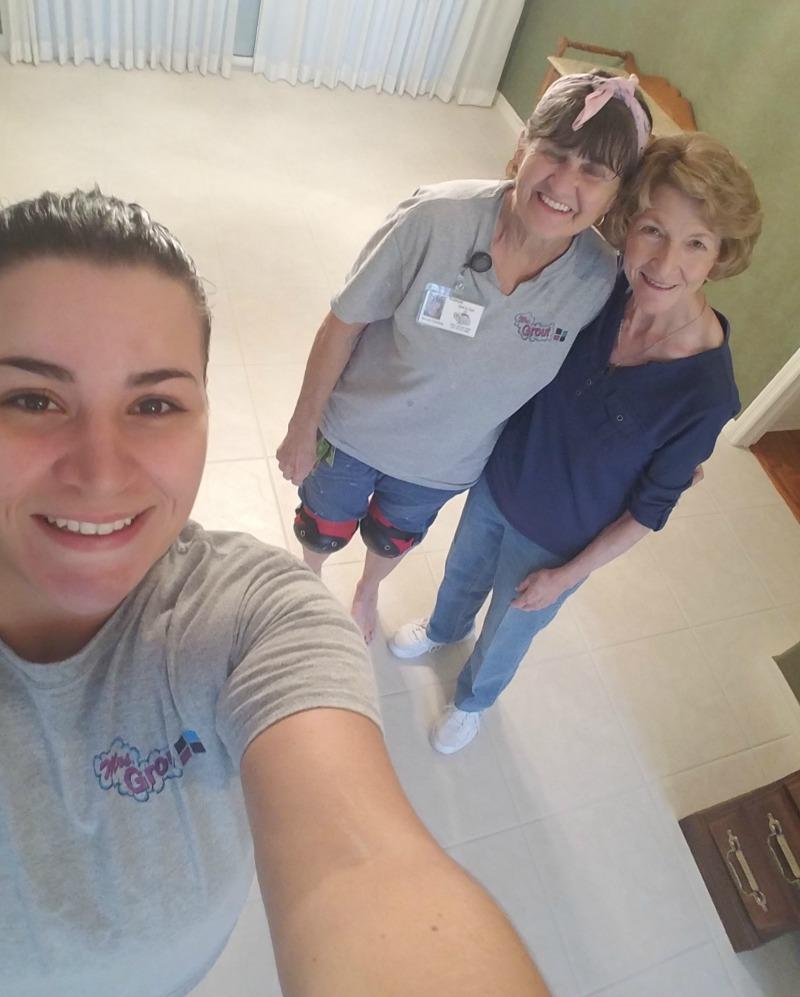 Selfies at Grout Restoration [Testimonial] | MrsGrout.com