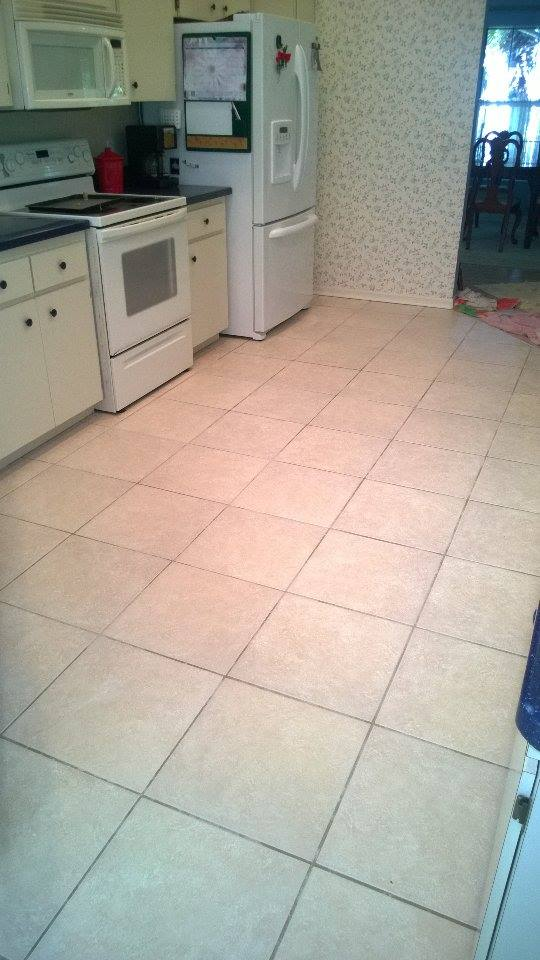 Dirty Kitchen Tile and Grout