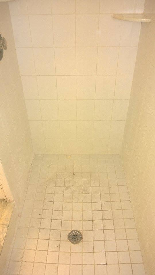 Stained Shower Grout