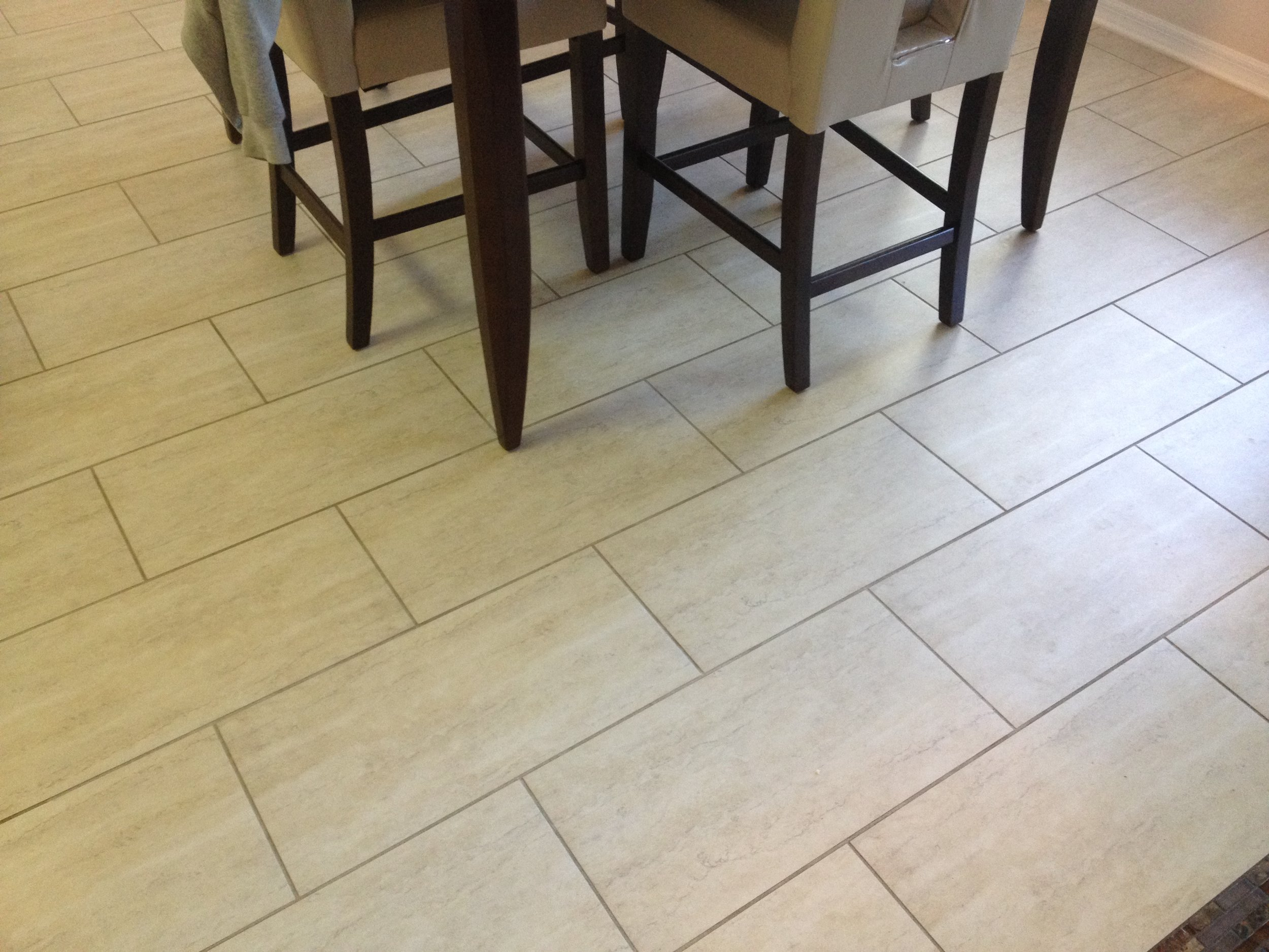 Tile And Grout Cleaning in Dining Room