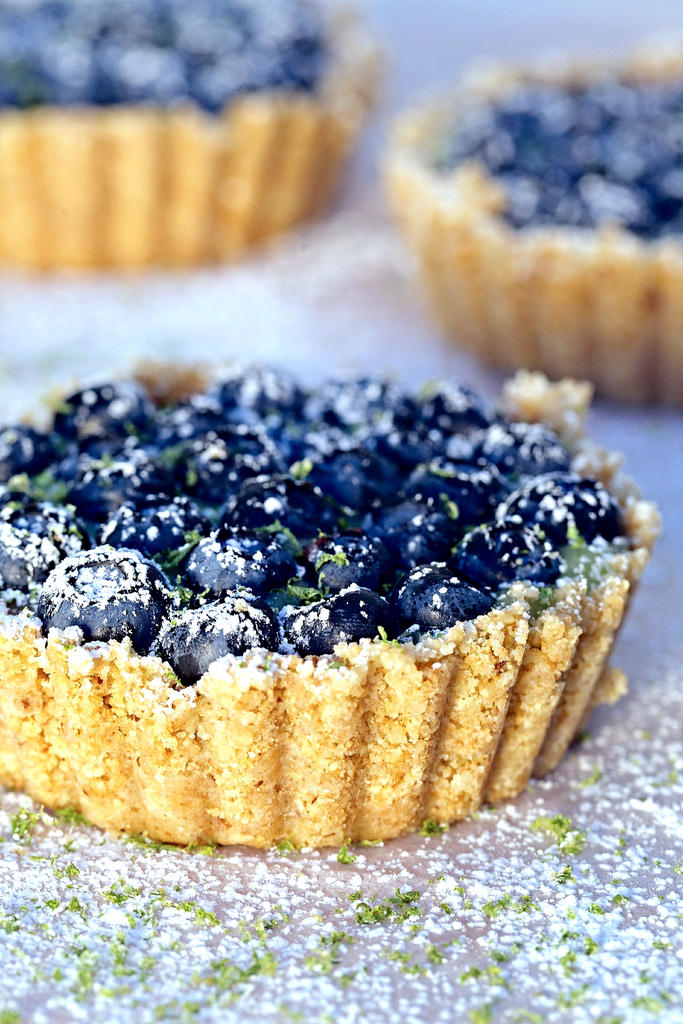Blueberry Lime Curd Tart
