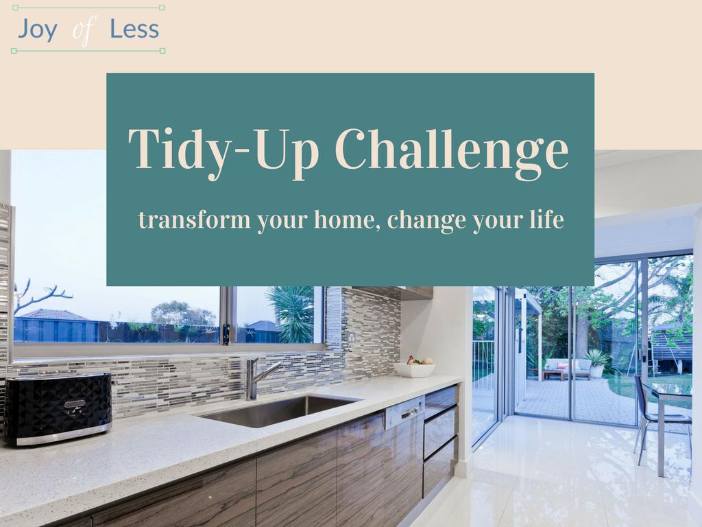 tidy up challenge