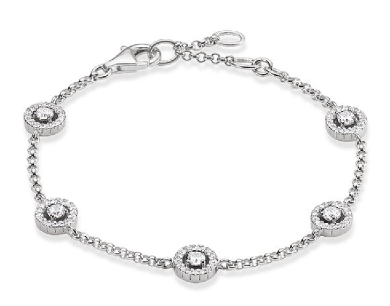 "This  Thomas Sabo  ""Light of Luna"" bracelet in silver is the perfect compliment to any Royal outfit."
