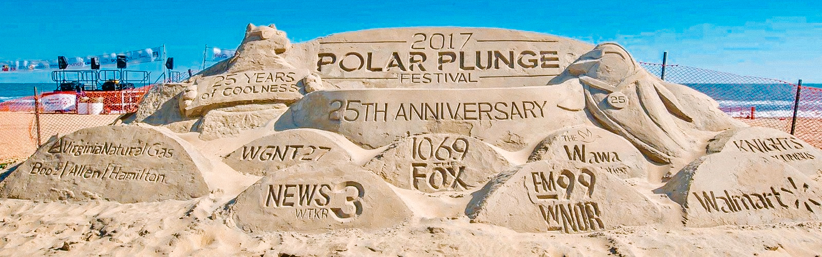 There were many sponsors at this year's Polar Plunge, all for a good cause!