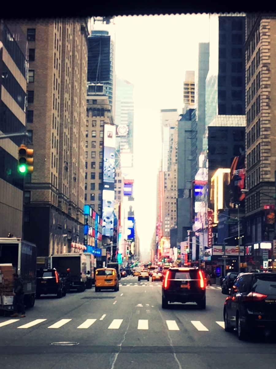 Busy streets of New York City.