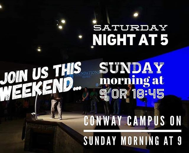 We would love to see you at any of our 4 services this weekend!!!!!
