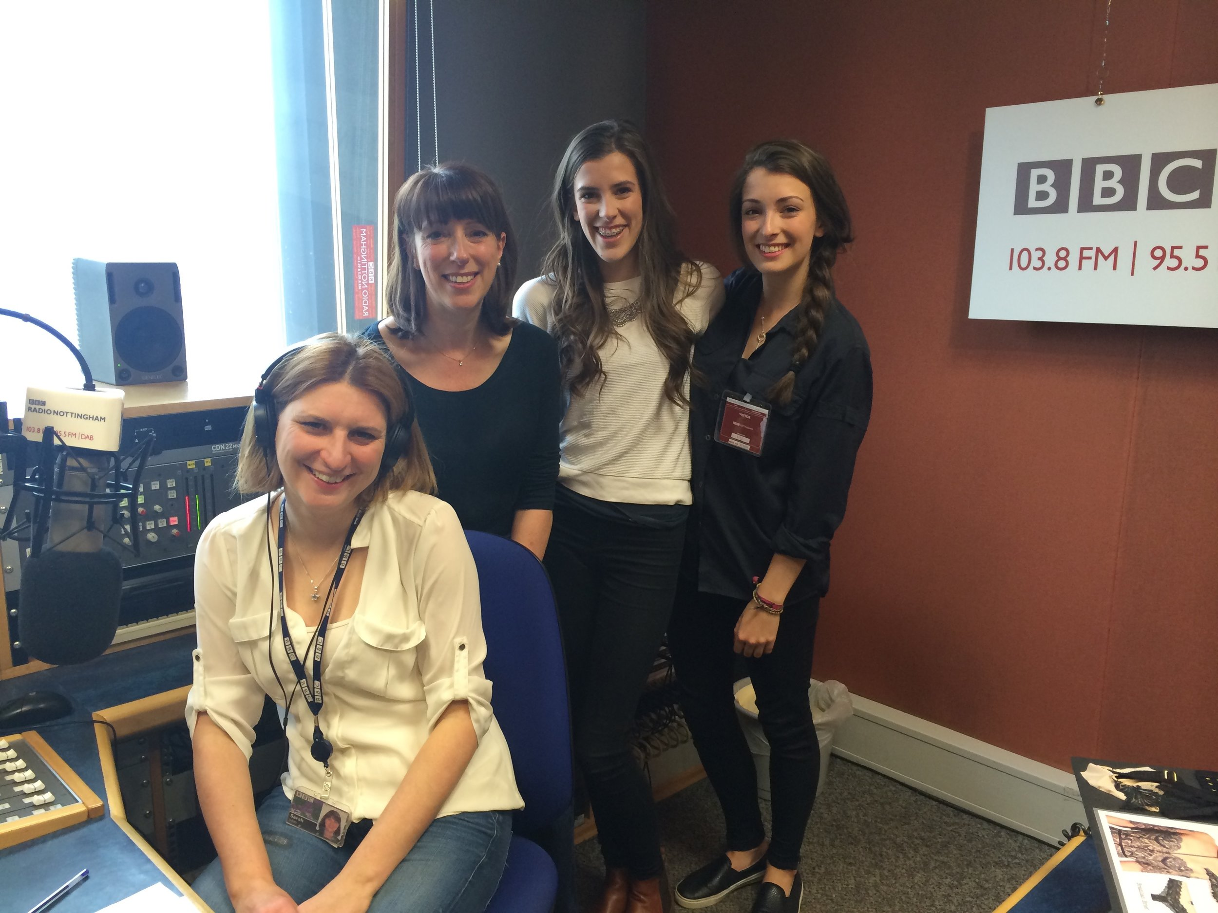 Team millie at BBC Radio Nottingham