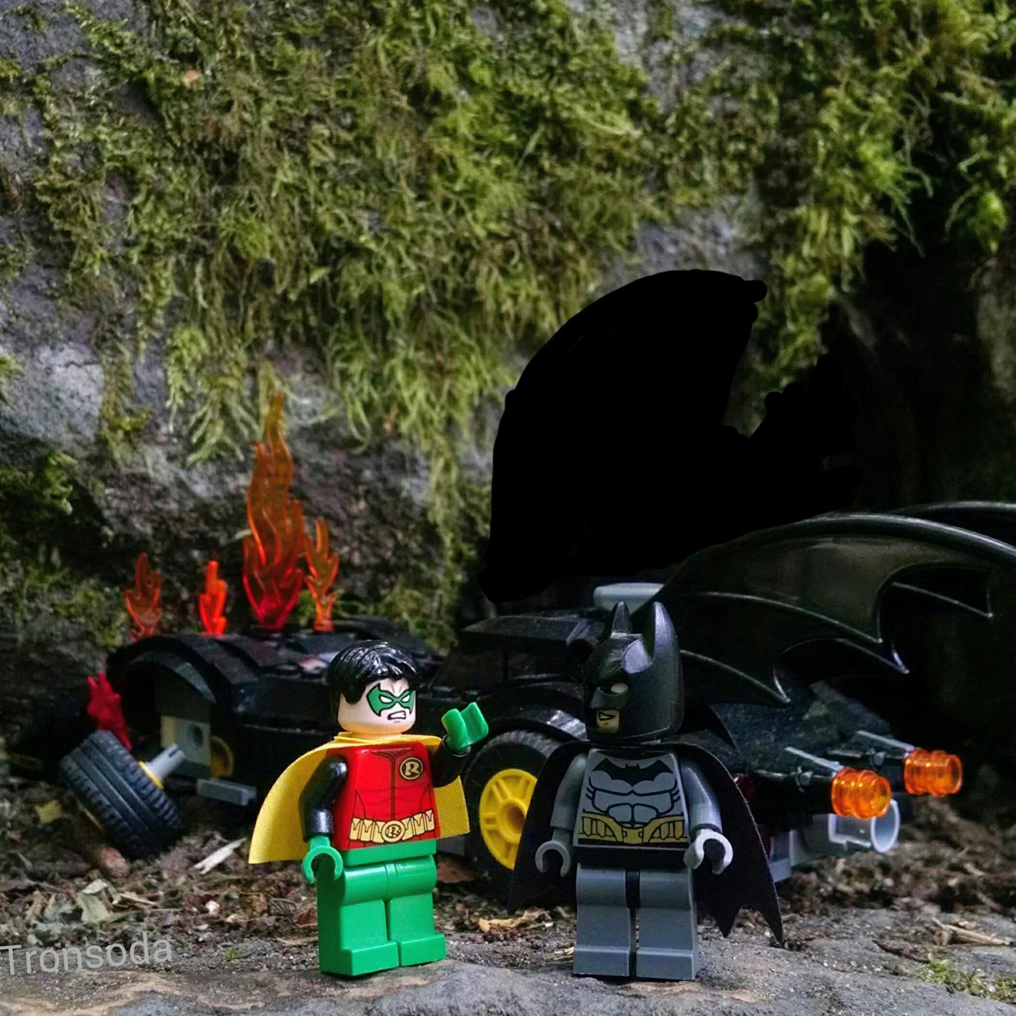 "BATMAN PROBLEMS...   ""You said you knew right where the secret Batcave entrance was!"""