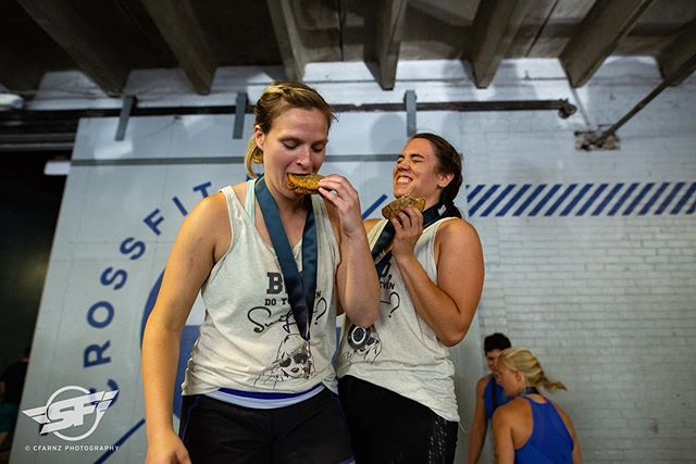 This is how you celebrate a podium finish! #superfitrichmond @rxproshop @ascent_protein @humanfoodrva @shyndigzdessert #OCP as a reward! Photo @cfarnz