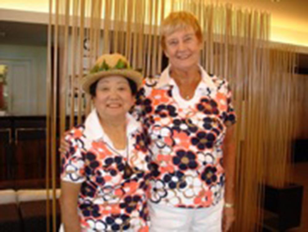 Sally Harper on right, President 1997-1999, 2001-2002