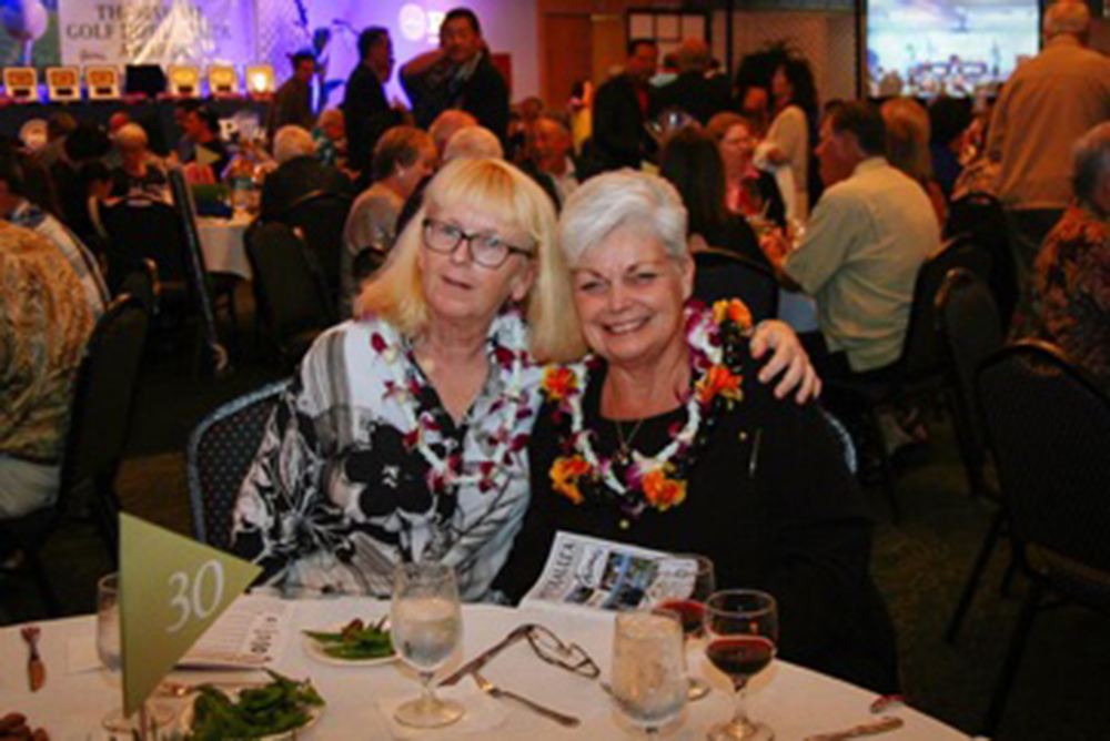 Kathy Ordway President 1992-1995, 2004-2006, 2010-2012 and Marcia Lee President 2007-2009,