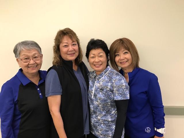 "The ""Isono"" Team: Agnes Kiyuna, Carolyn Arakaki, Shera Hiam, Ella Isono."