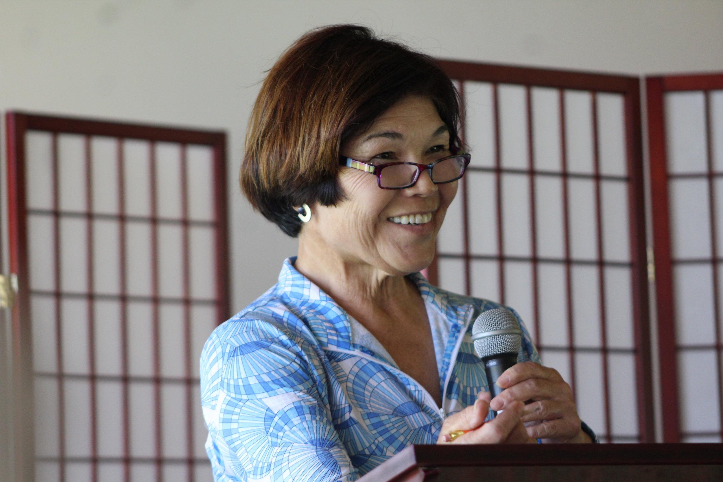 Gwen Omori our Correspondence Secretary.