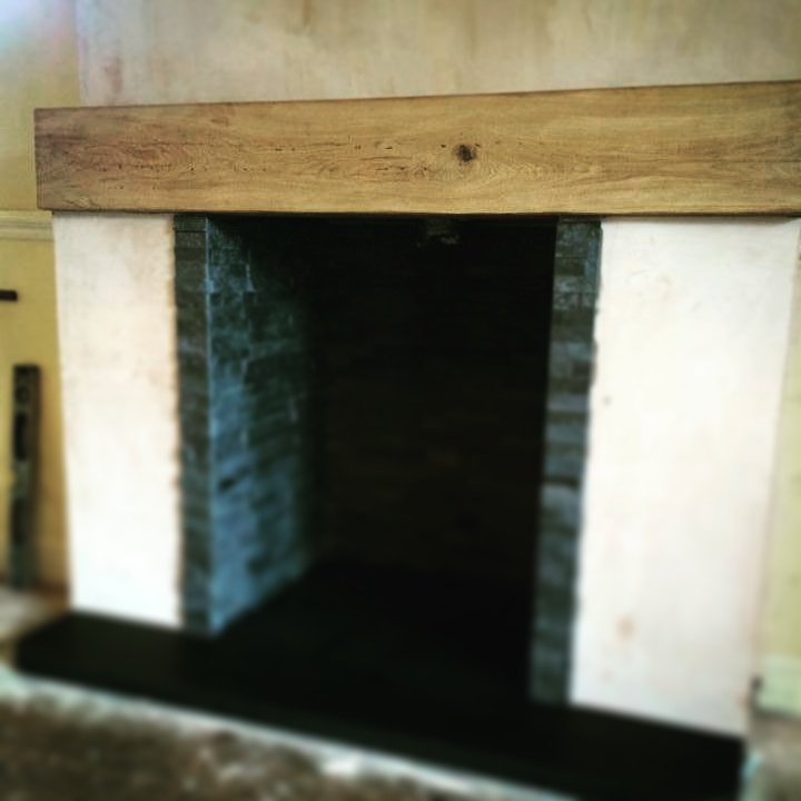 Air dried oak beam sanded