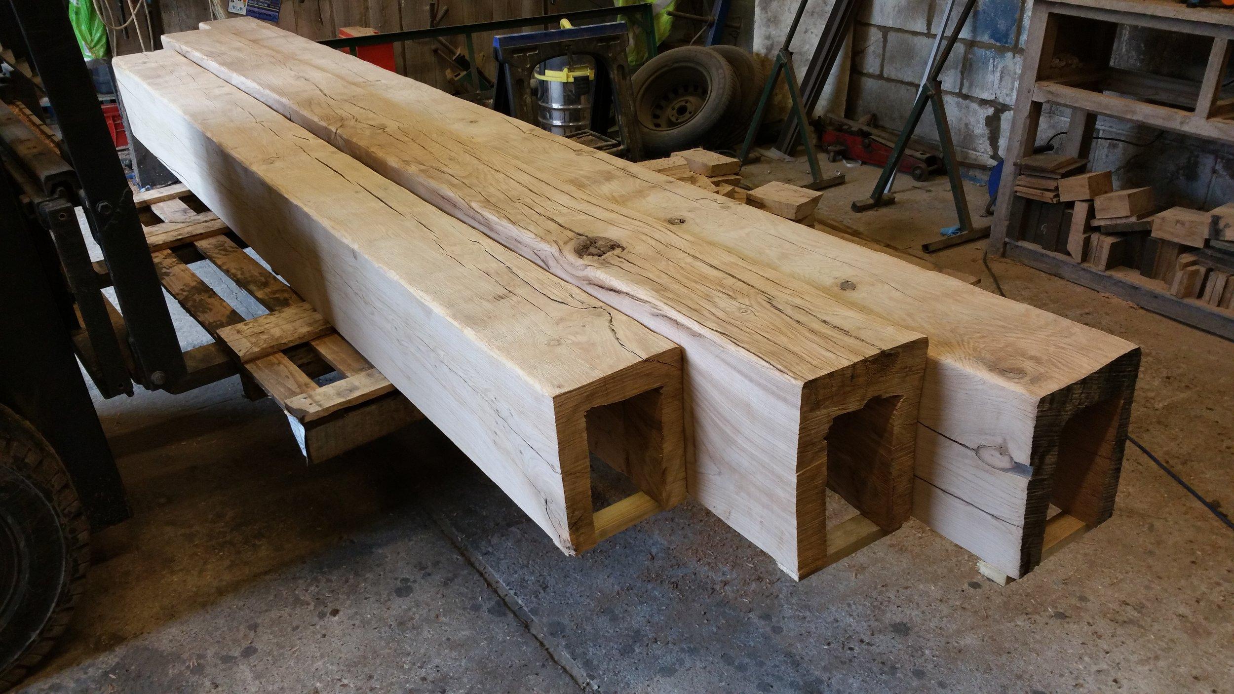 Oak beam casings