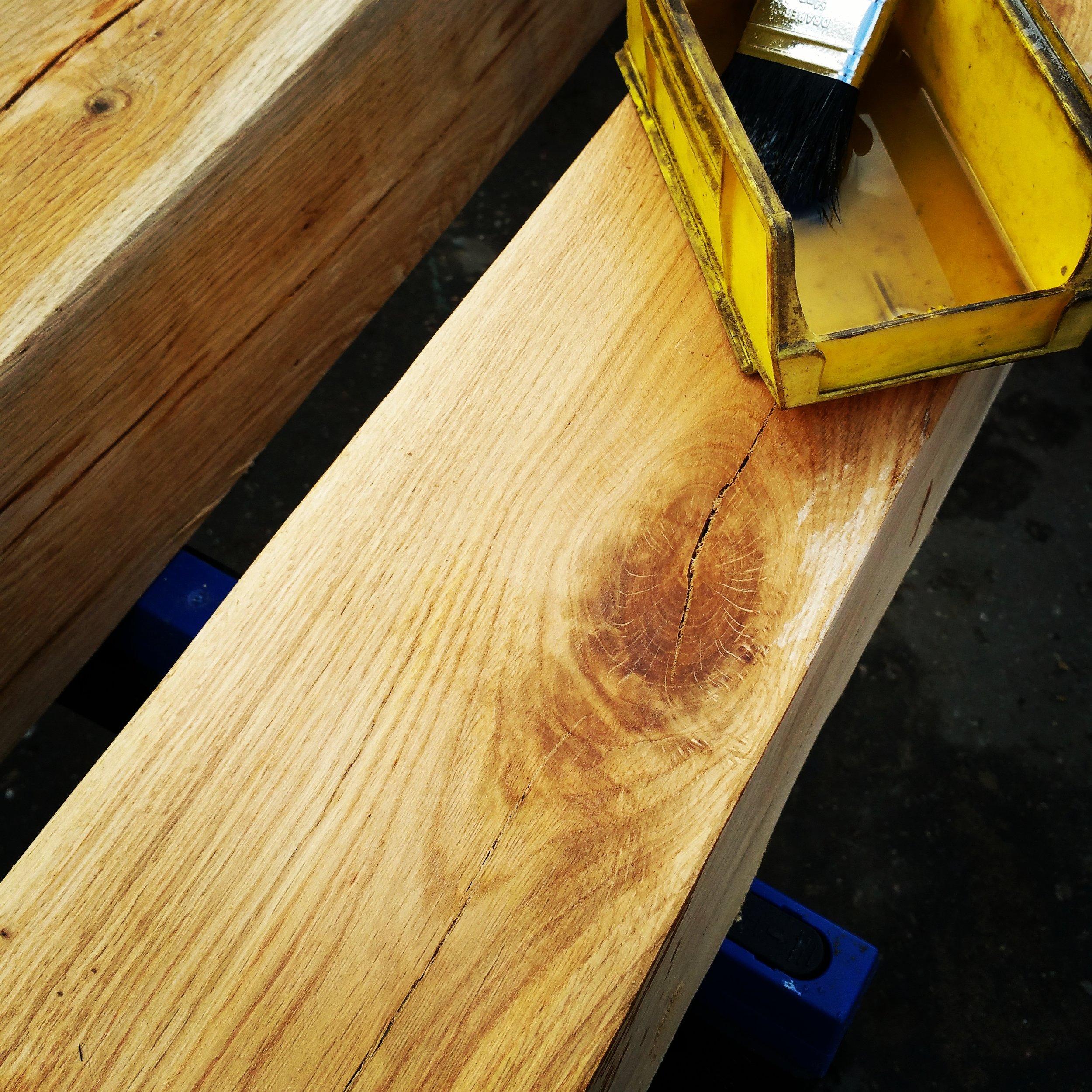 Treating oak