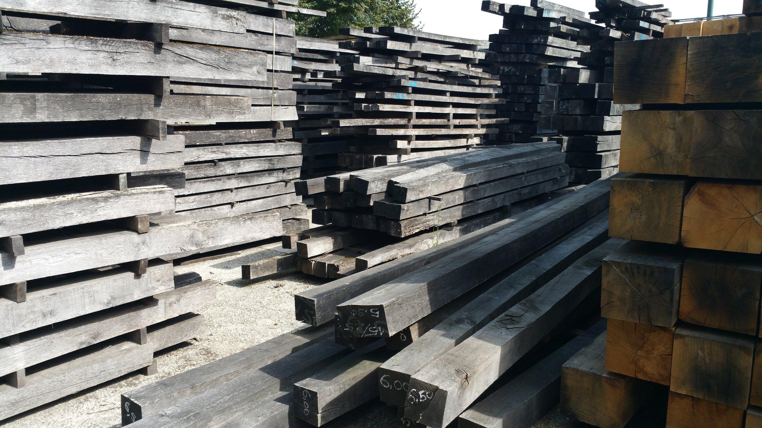 Huge stock of old beams
