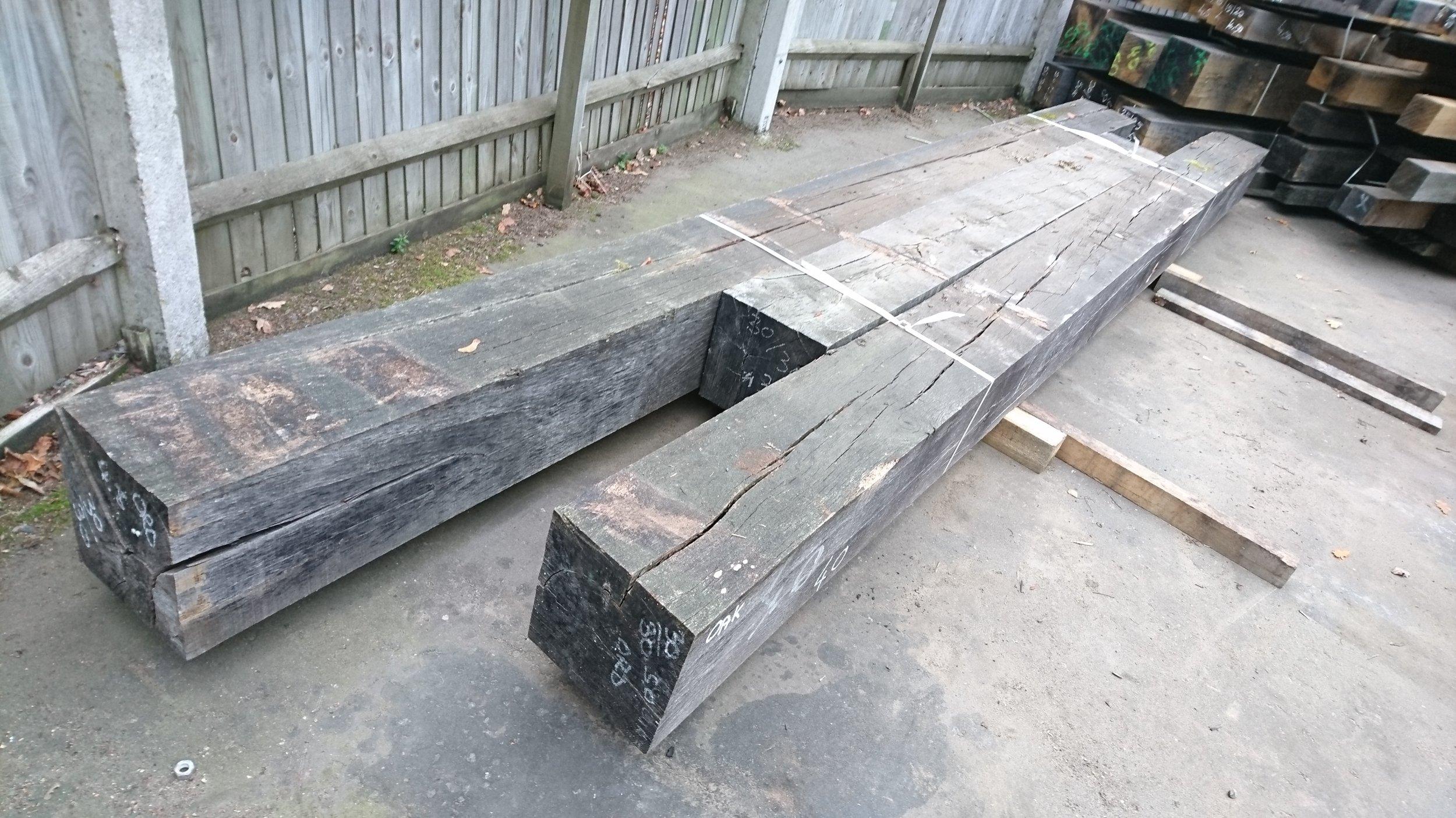 large sections air dried seasoned beams