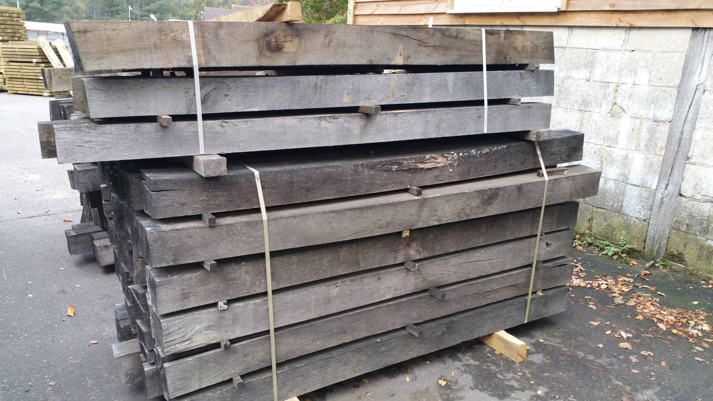 """Rustic 6"""" x 6"""" oak beams"""