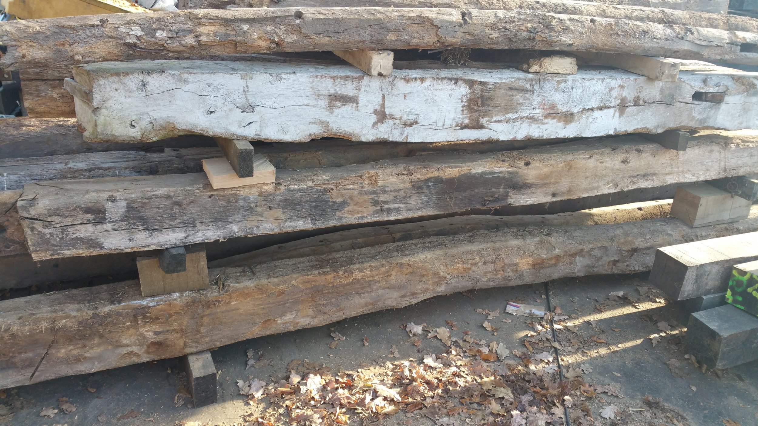 Ready to me made into reclaimed oak mantels