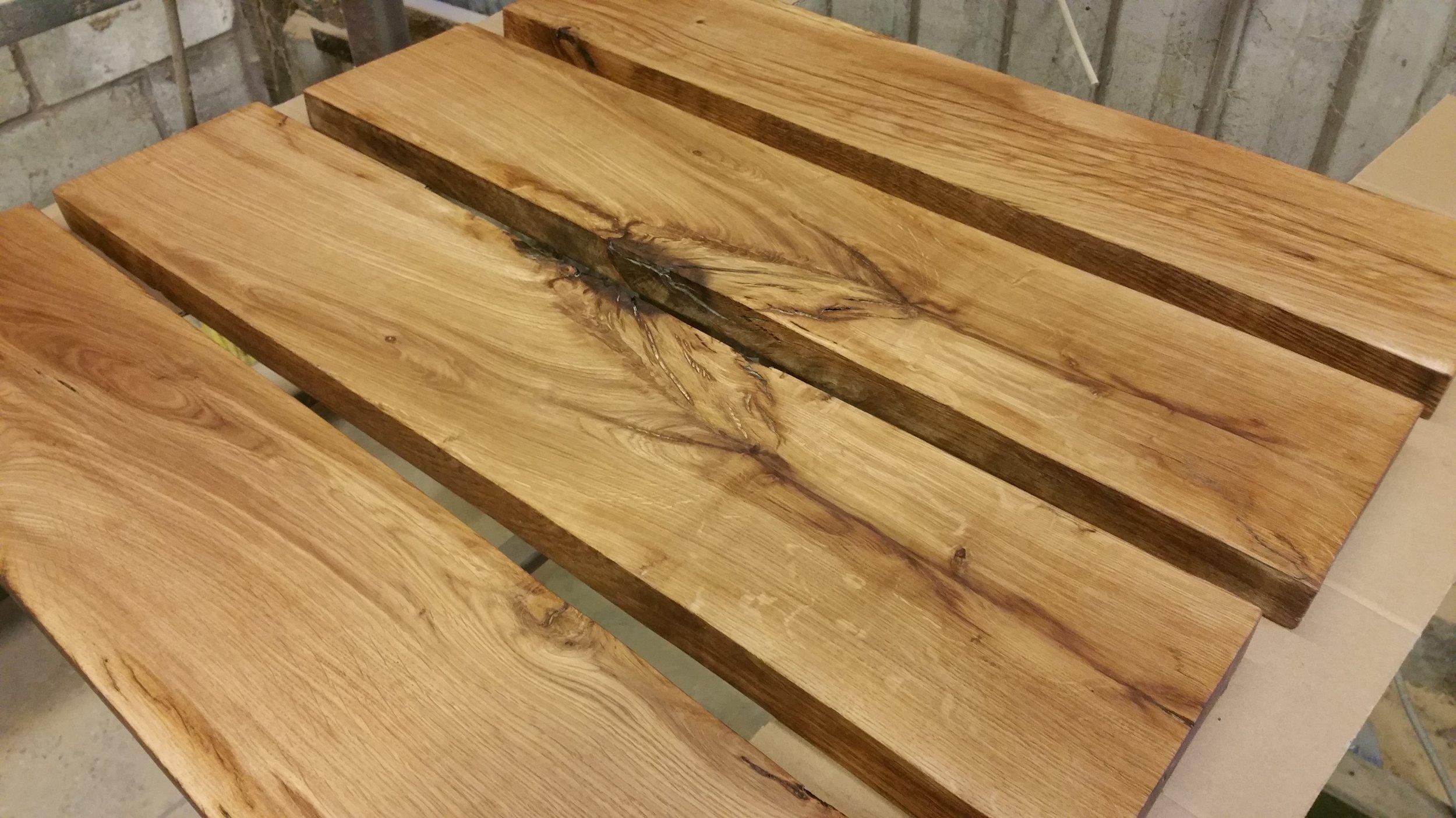 Oak Shelves and Joinery