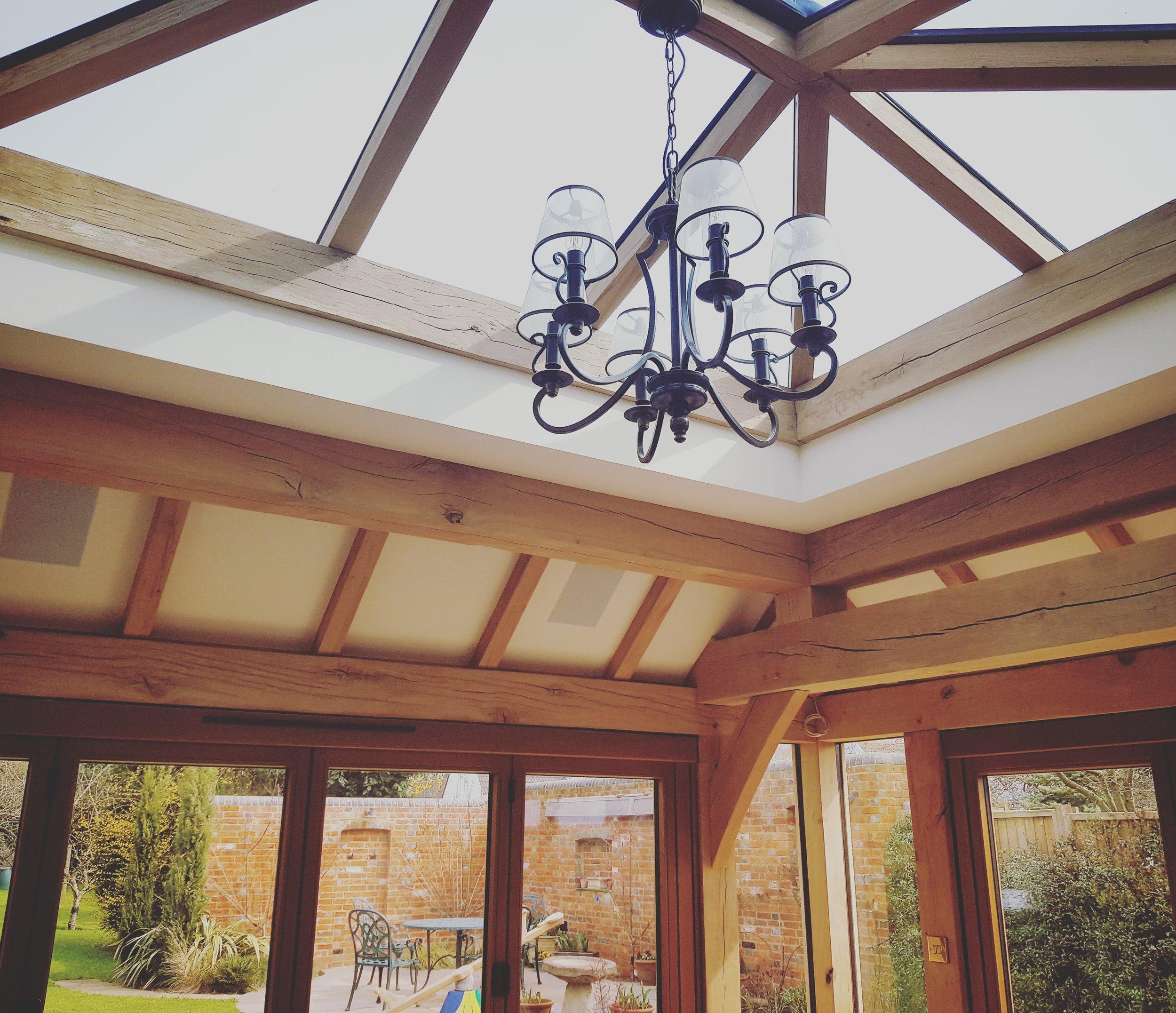 Stunning oak frame sun room