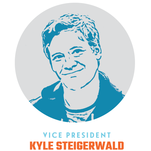 Kyle Steigerwald Vice President   I spent a lot of time in high school and college on stage, expressing myself, and challenging authority. I have a very healthy appreciation for the arts and all creative pursuits. I have been with Blueprint since 2008 and love talking with people and getting excited about things that are worth sharing.  When I'm not killing it at work I enjoy nature, playing guitar, traveling off the beaten path and spending quality time with my family and friends.