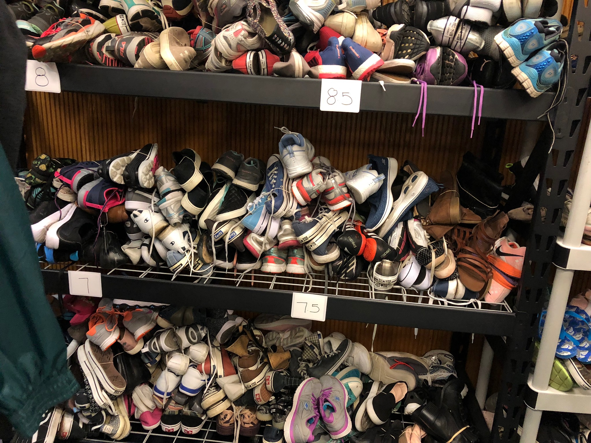 Shoe donations at JFS San Diego