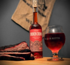 A Bottle of Broken Crown Mead With Sliced Brisket.jpg