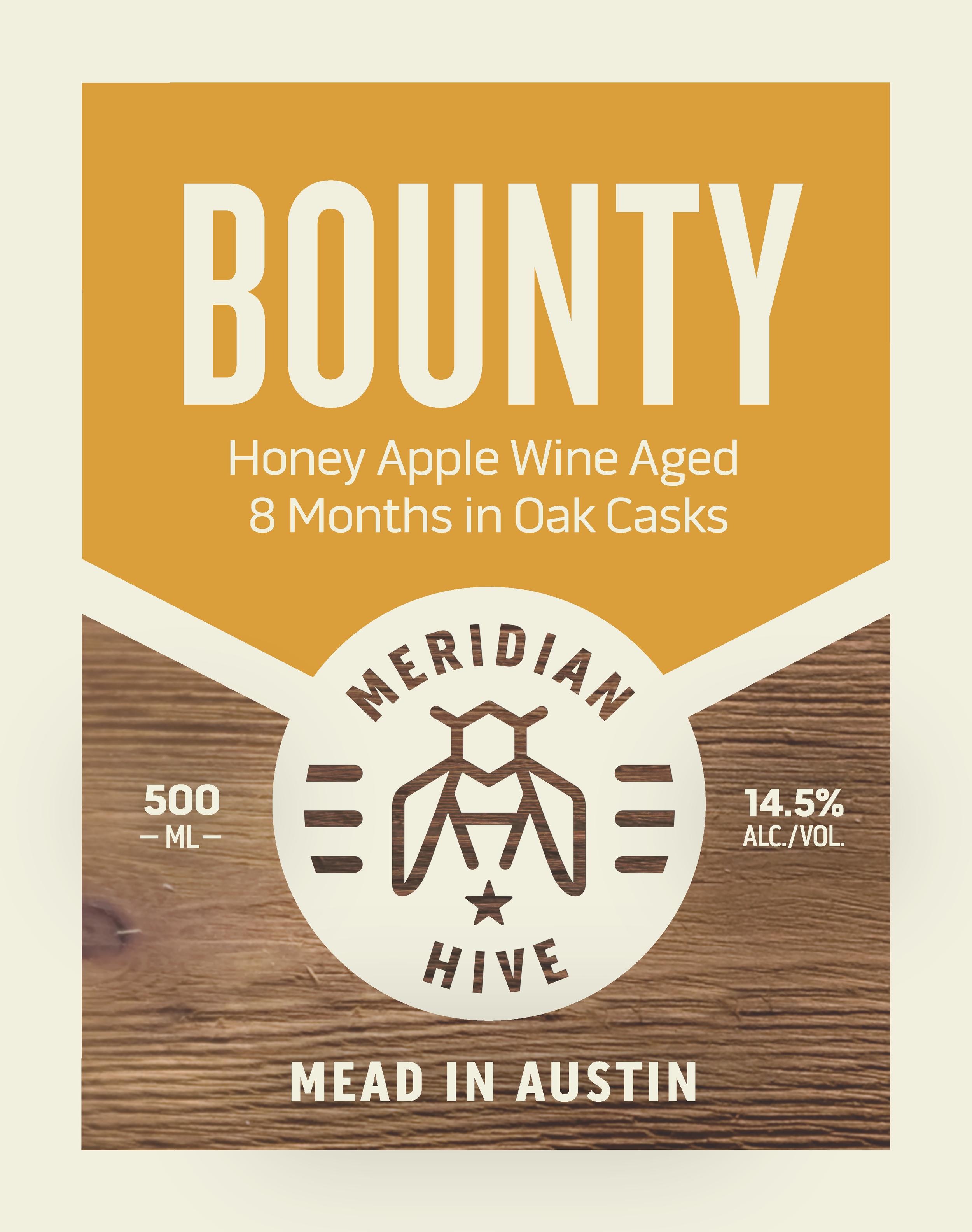 Bounty Barrel Aged Cyser Still Mead Label