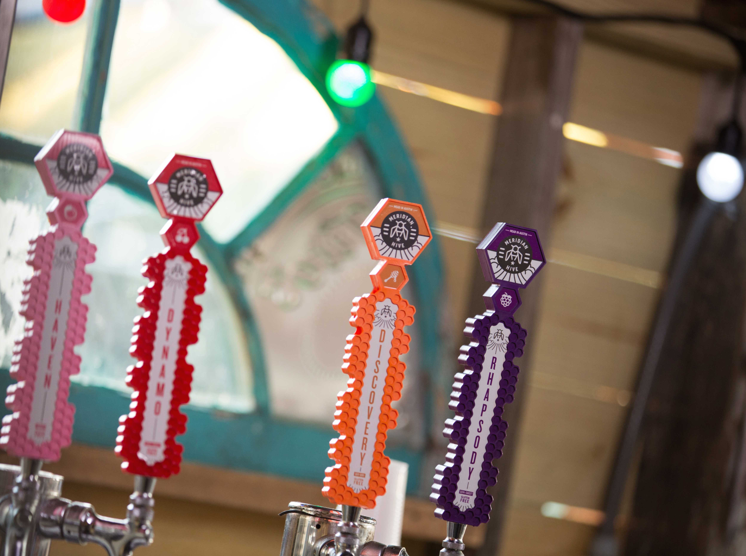Tap Handles with arched window
