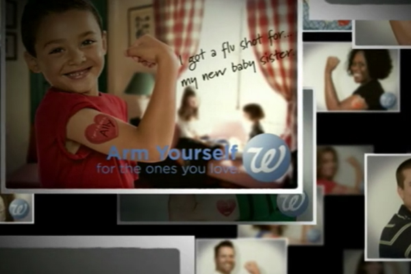 "Walgreens     ""Arm Yourself""       Agency:    Arc Worldwide"
