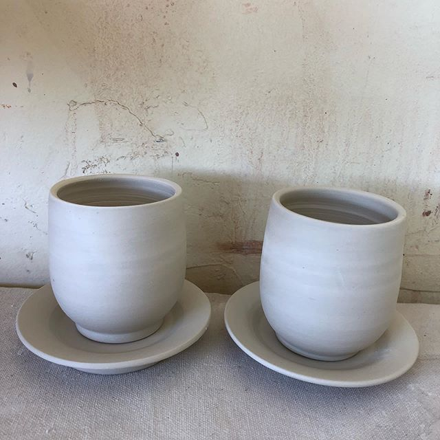 Making these cutie espresso cups today!  #porcelain #espresso #pottery #avlart #afternoonpickmeup #pennycupcoffee