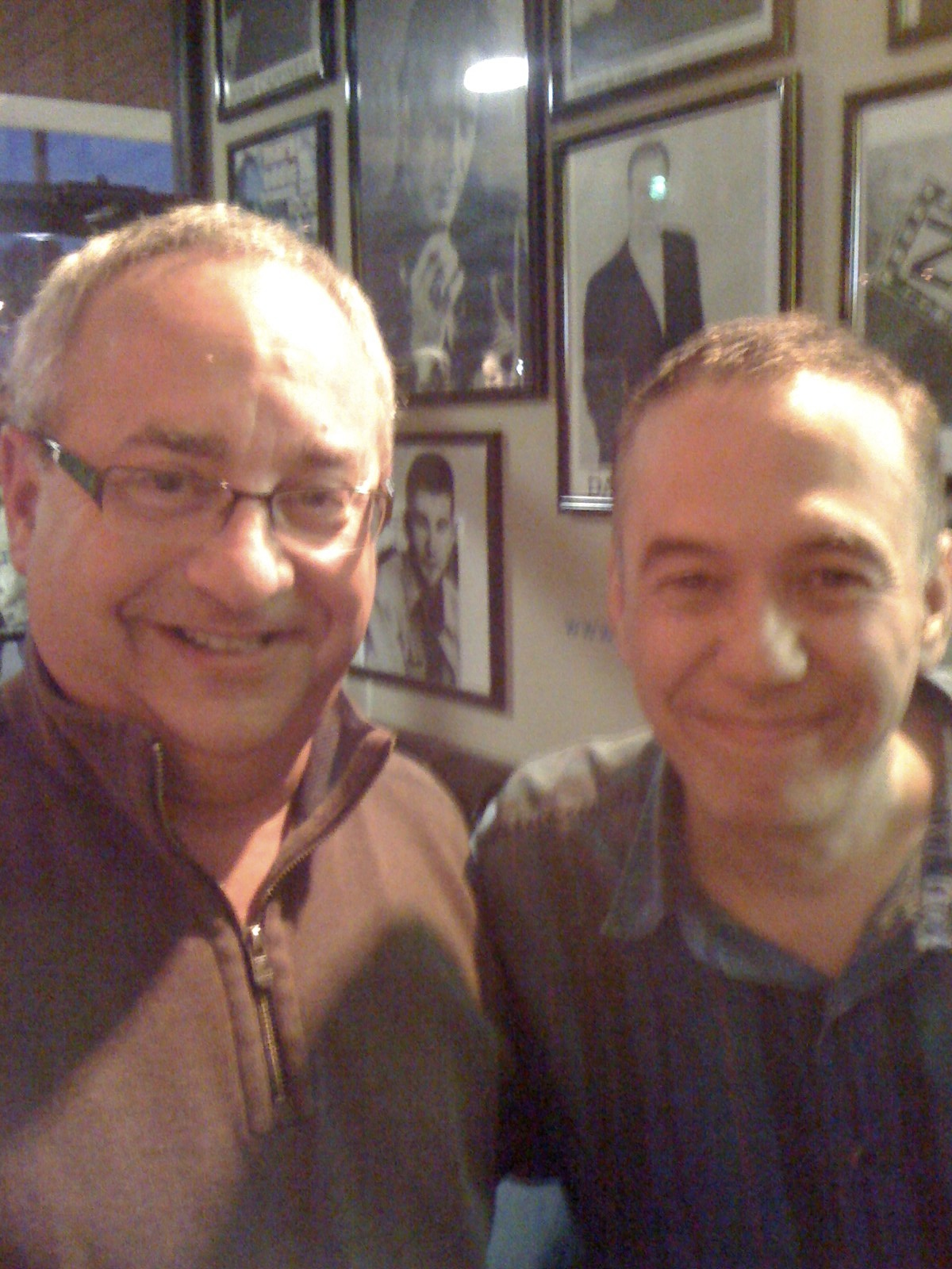 Chuck Field with Gilbert Gottfried