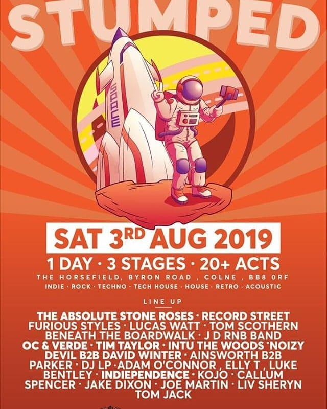 Honoured to be asked to play the first year of Stumped Fest, Colne in a couple of weeks. Playing alongside some awesome local artists too, see you there! 💥💥💥