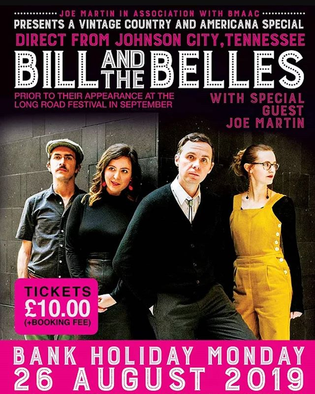 """The first act to play at the new Country Roots and Americana night at Barnoldswick Music & Arts Centre, will be the incredible @billandthebelles, all the way from Johnson City, Tennessee! """"They're a joy to watch live, and we bet you can't make it through their set without smiling."""" -The Bluegrass Situation  Influenced by bluegrass, hillbilly, classic country and honky tonk, Bill and the Belles have an attractive """"vintage"""" persona, putting their own spin on a golden era of music, specifically the 1920s, 1930s, and 1940s.  See you there folks! 🤠  #americana #bluegrass #livemusic"""