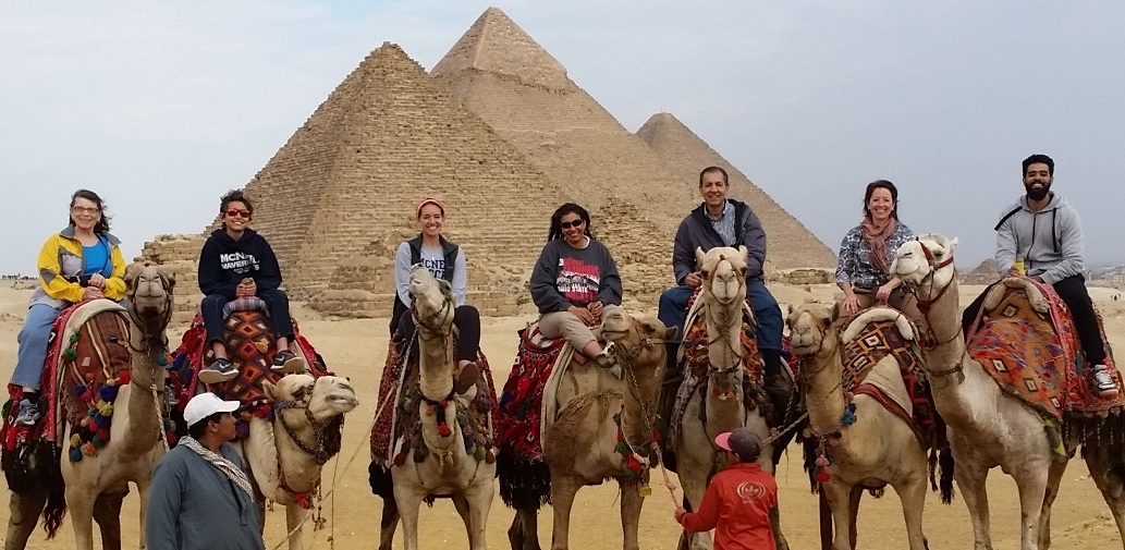 RST Austin Volunteer Mohamed (third from right) with one of his Bright Blessings, his family, on a recent trip to Egypt.