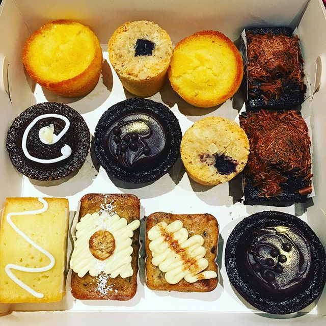 This is the new #gift #trend here in #tooting @tootingmarket #nuvolalittlebakery #alittlebakery instead of going for the usual #cupcakes or a big single #cake our #customers like to have it all... so many #flavours to choose #sweettreats for everyone #glutenfree #dairyfree #vegan #organic #freshlybaked #madewithlove COME AND #CREATE YOUR #PERFECT #cakebox #giftbaskets #giftideas #happycakes