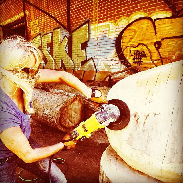 Just add a little elbow grease! @dewalttough  #bigguns #girlswithmuscle #elbowgrease  #customwoodwork #geterdone