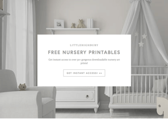Free opt-in resource library to grow LittleHighbury's email list