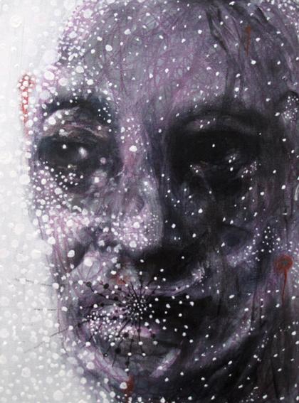 Angelo Bellobono. Llow life side 02. 2008. Acrylic on canvas. 22 x 33 cm.