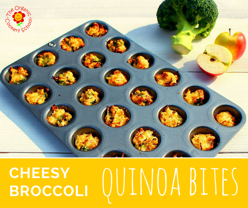 Cheesy Broccoli Quinoa Bites - The Organic Cookery School
