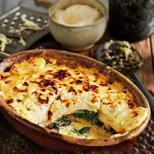 Spinach and potato gratin    Tesco RealFood