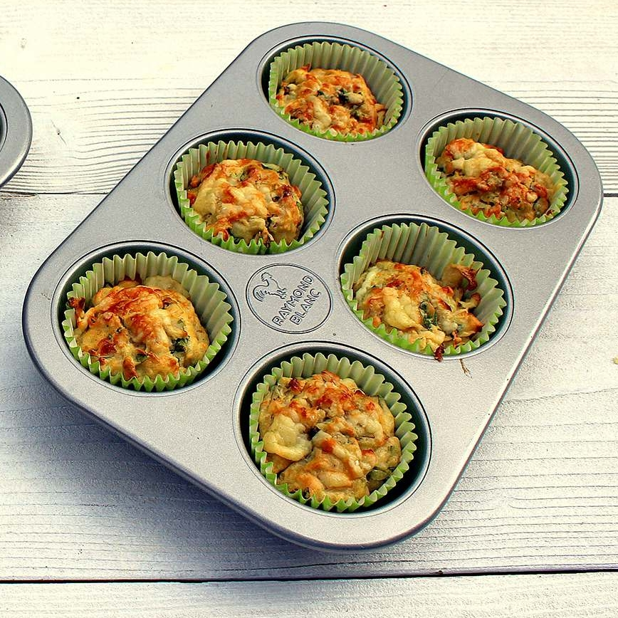 Or our very own   Cheesy Spinach Muffins