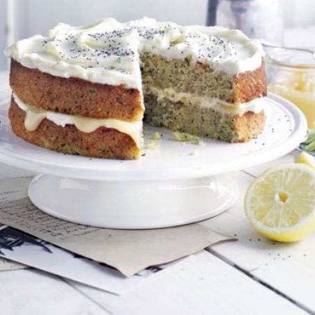 Frosted Courgette and Lemon Cake     Jane Hornby via   GoodFood