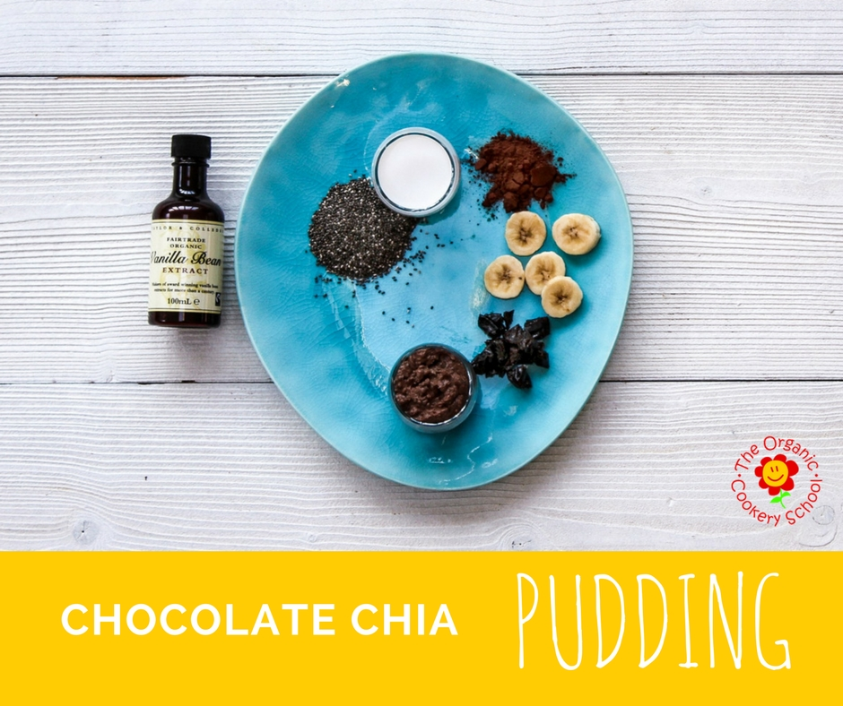 The Organic Cookery School Chocolate Chia Seed Pudding for babies/toddlers