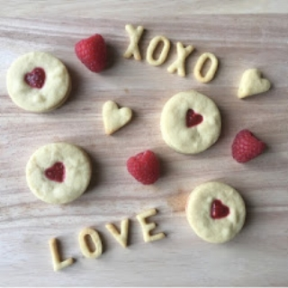 All About Kids  have reinvented the traditional Jammie Dodger with raspberry chia jam. Yum!